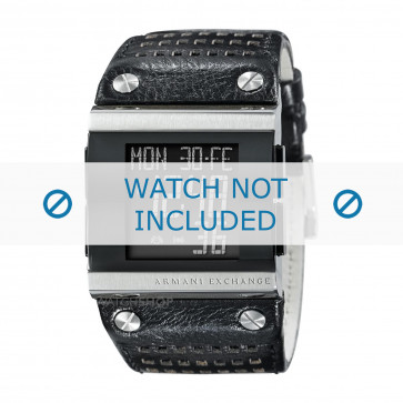 Cinturino per orologio Armani AX1066 Pelle Nero 36mm