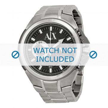 Armani cinturino orologio AX-1039 Acciaio Argento 27mm