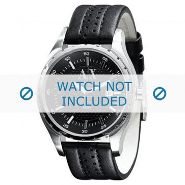 Armani cinturino orologio AX-1055 Pelle Nero 22mm