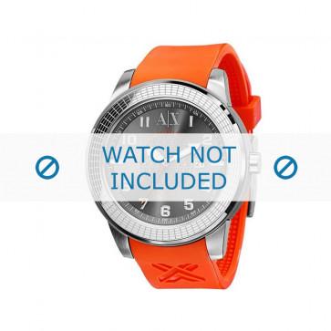 Armani cinturino orologio AX-1073 Gomma Arancione