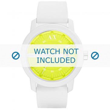 Armani cinturino orologio AX-1241 Silicone Bianco 22mm