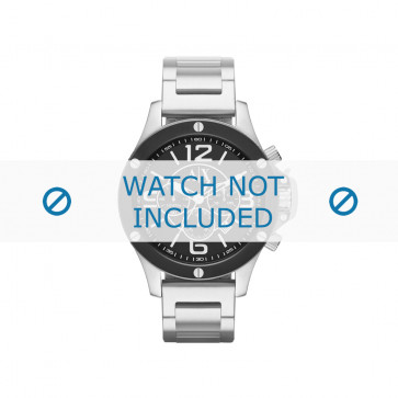 Armani cinturino orologio AX-1501 Acciaio Argento 22mm