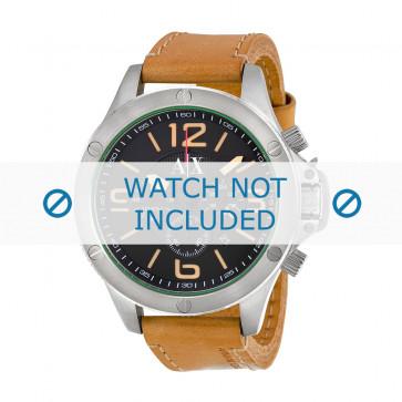 Armani cinturino orologio AX-1516 Pelle Marrone 22mm