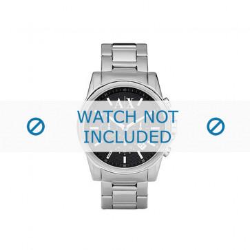 Armani cinturino orologio AX-2084 Acciaio Argento 22mm