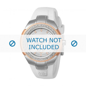 Armani cinturino orologio AX-5052 Silicone Bianco 20mm