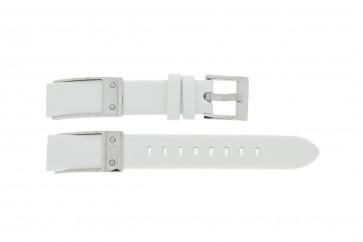 Armani cinturino dell'orologio AX5300 Pelle Bianco 16mm
