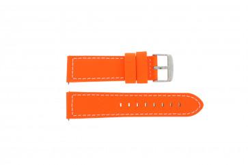 Davis cinturino dell'orologio B0262 Pelle Arancione 22mm