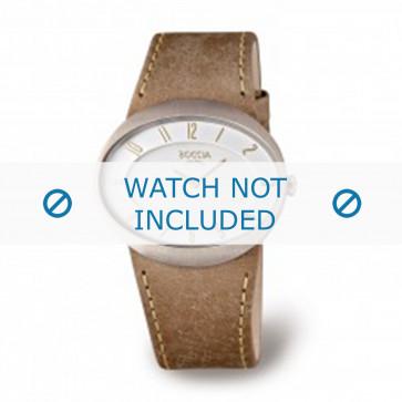 Cinturino per orologio Boccia 3165.01 Pelle Marrone 26mm