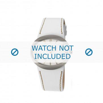 Cinturino per orologio Boccia 3165-09 Pelle Bianco 26mm