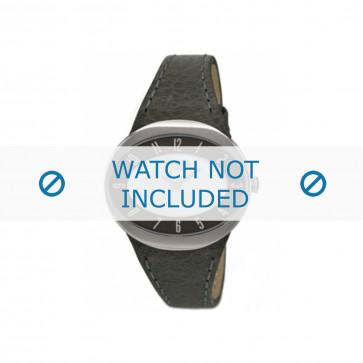 Cinturino per orologio Boccia 3165-15 Pelle Grigio 26mm