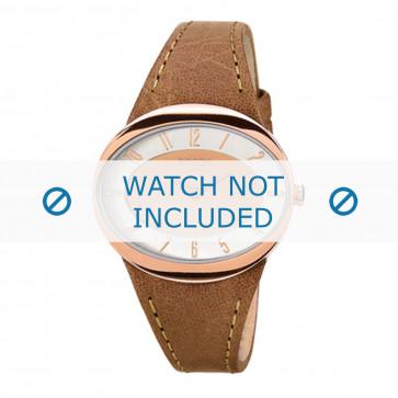 Cinturino per orologio Boccia 3165-18 Pelle Marrone chiaro 26mm