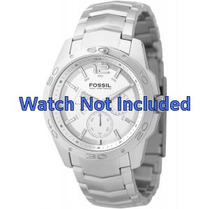 Fossil cinturino dell'orologio BQ9327 / BQ9328 Metallo Argento 22mm