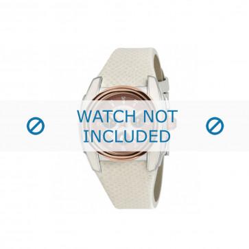 Breil cinturino dell'orologio BW0383 / F260053231 / BW0384 Pelle Bianco 25mm