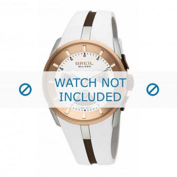 Cinturino per orologio Breil BW0428 Gomma Bianco 26mm