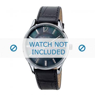 Breil cinturino dell'orologio TW1564 Pelle Nero 18mm + cuciture nero