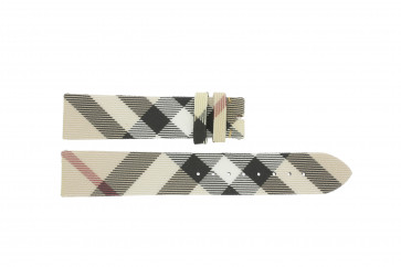 Cinturino per orologio Burberry BU9022 / Antima 7177839 - PVC Watch Band Pelle Bianco crema 20mm