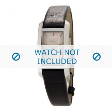 Cinturino per orologio Burberry BU1053 Cuoio morbido Nero 14mm
