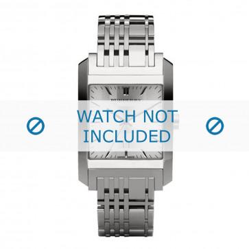 Burberry cinturino dell'orologio BU1567 Metallo Argento
