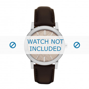 Cinturino per orologio Burberry BU9011 Pelle Marrone 20mm