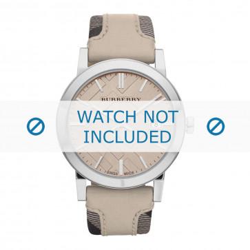 Cinturino per orologio Burberry BU9021 Pelle Beige 20mm