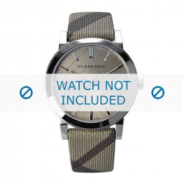 Burberry cinturino dell'orologio BU9023 Pelle Bianco crema / Beige