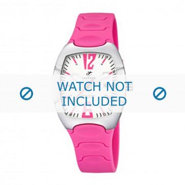 Calypso cinturino dell'orologio K5161-5 Gomma / plastica Rosa 11mm