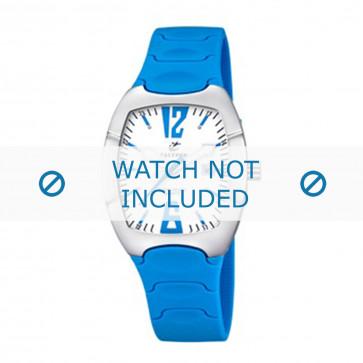 Calypso cinturino dell'orologio K5161-8 Gomma / plastica Blu chiaro 11mm
