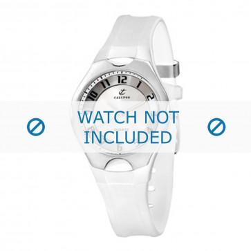 Calypso cinturino dell'orologio K5162-5 Gomma / plastica Bianco