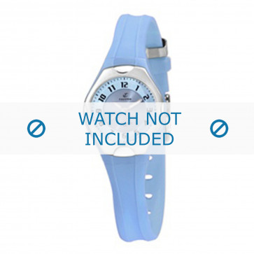 Calypso cinturino dell'orologio K5163-4 Gomma / plastica Blu chiaro