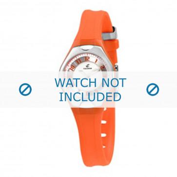 Calypso cinturino dell'orologio K5163-6 Gomma / plastica Arancione