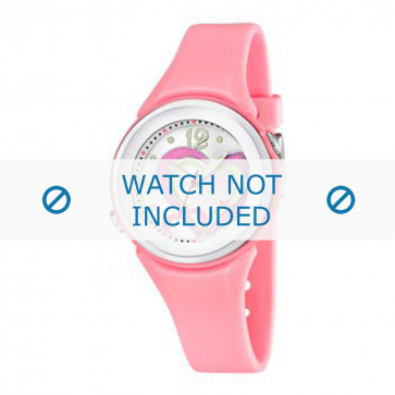 Calypso cinturino dell'orologio K5576-3 Gomma / plastica Rosa