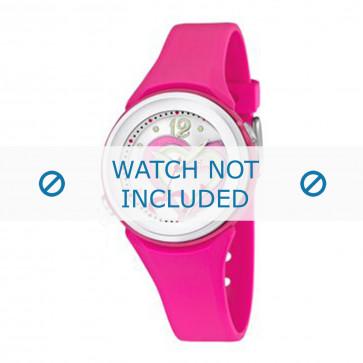 Cinturino per orologio Calypso K5576-5 Gomma Rosa 18mm