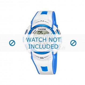 Calypso cinturino dell'orologio K5610.2 Gomma / plastica Bianco