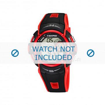 Cinturino per orologio Calypso K5610-5 Gomma Nero 28mm
