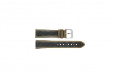 Camel cinturino orologio 5320-5329 / 5390-5399 Pelle Marrone 22mm + cuciture grigio