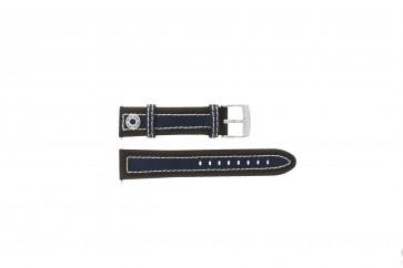 Camel cinturino orologio 3120-3129 / 3520-3529 Pelle Marrone 22mm + cuciture bianco