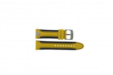 Camel cinturino orologio Active Pelle Giallo 22mm + cuciture nero