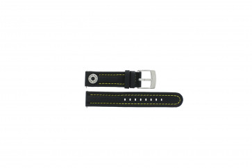 Cinturino per orologio Camel BC51091 Active Pelle Nero 18mm
