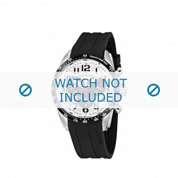 Cinturino per orologio Candino C4472 Gomma Nero 22mm