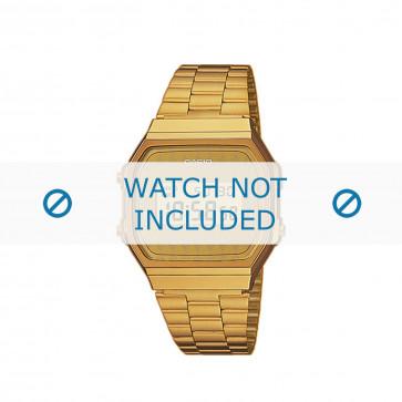 Casio cinturino orologio A168WG-9BWEF / A168WG-9BW Acciaio Oro (Placcato) 18mm