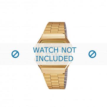 Casio cinturino orologio A168WG-9EF / A168WG-9 Acciaio Oro (Placcato) 18mm