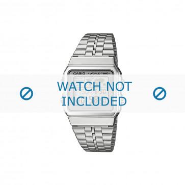 Casio cinturino orologio A500WEA-7EF / A500WEA-7 Acciaio Argento 18mm