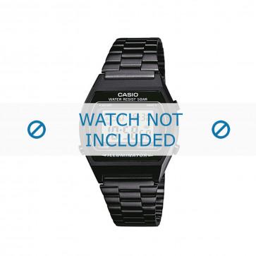 Cinturino per orologio B640WB-1AEF / B640WB-1A / 10409334 Acciaio Nero 18mm