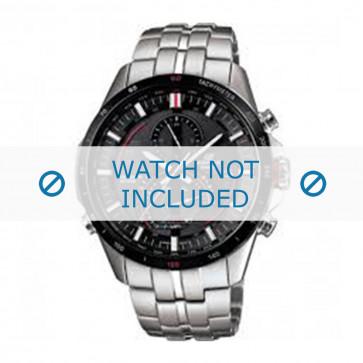 Casio cinturino dell'orologio EQS-A500DB-1AVER / 10427996 Metallo Argento 22mm