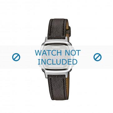 Cinturino per orologio Casio LA670WEL-1BEF / LA670WEL-1B / 10487163 Pelle Grigio antracite 13mm