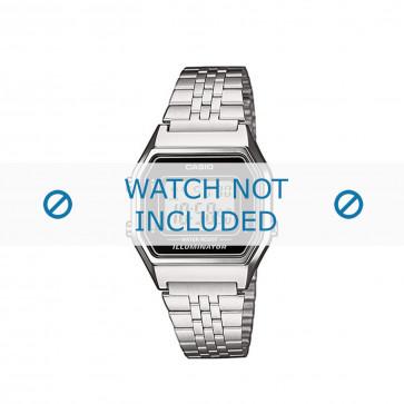 Casio cinturino orologio  LA680WEA-1EF / LA680WEA-1  Acciaio Argento 14mm