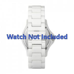 Fossil cinturino dell'orologio CE1010 Ceramica Bianco 20mm