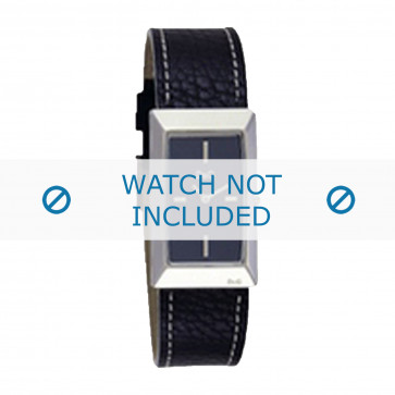 Dolce & Gabbana cinturino dell'orologio 3719040015 Pelle Nero + cuciture bianco