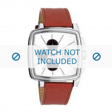 Dolce & Gabbana cinturino dell'orologio DW0105 Pelle Arancione + cuciture arancione