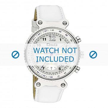 Dolce & Gabbana cinturino dell'orologio DW0305 Pelle Bianco + cuciture bianco